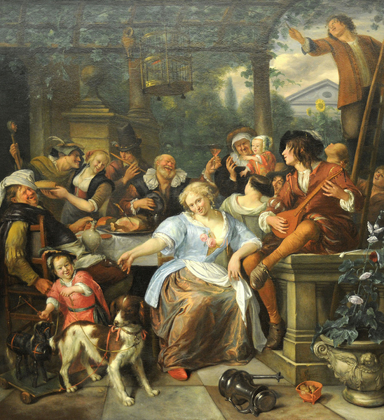 Steen- Merry Company on a Terrace. C.1670. MET