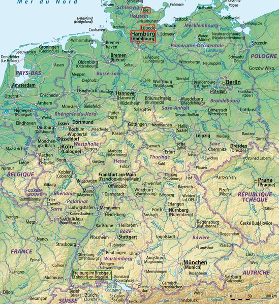 Carte Allemagne Kiel.Kiel Au Nord Toute Phileas Frog