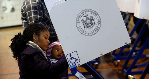 Kirsten Luce TNYT Vote au bureau 22 à Brooklyn