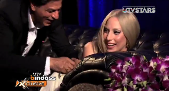 Shahrukh Khan learn english to Lady Gaga