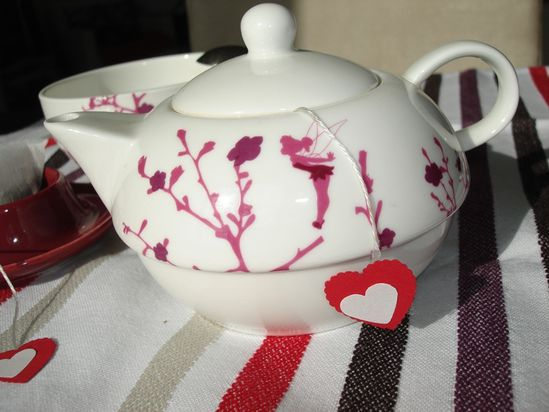 sachet coeur tea time