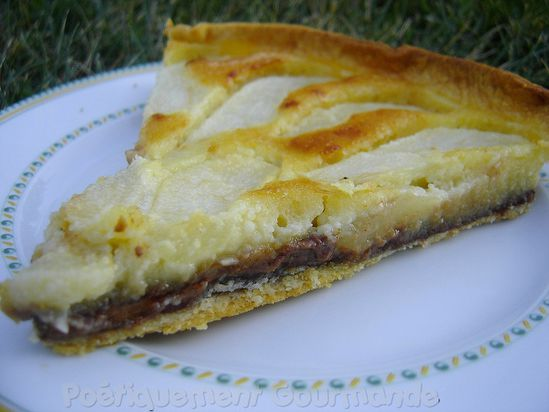 tarte poires pralinoise