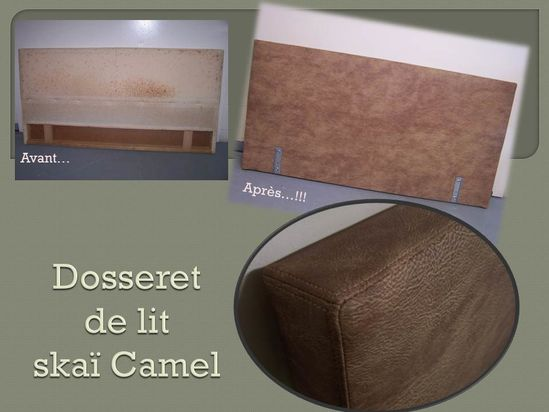 dosseret de lit ska camel tapisserie patrick graffard. Black Bedroom Furniture Sets. Home Design Ideas