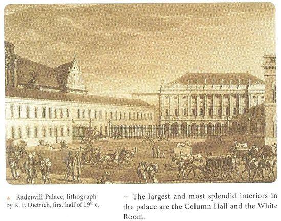 Palais Radziwill lithographie par Dietrich