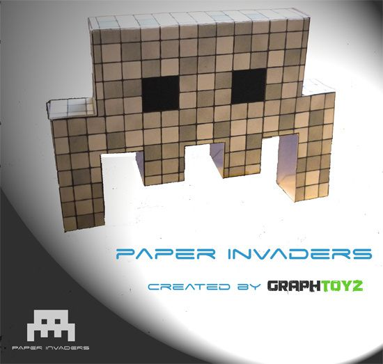 Paper Invaders, papertoyz created by GraphToyz
