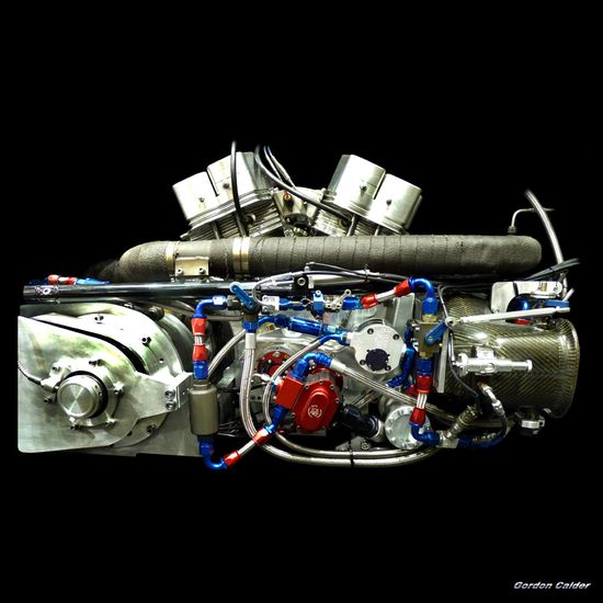 SUPERTWIN TOP FUEL DRAG BIKE ENGINE