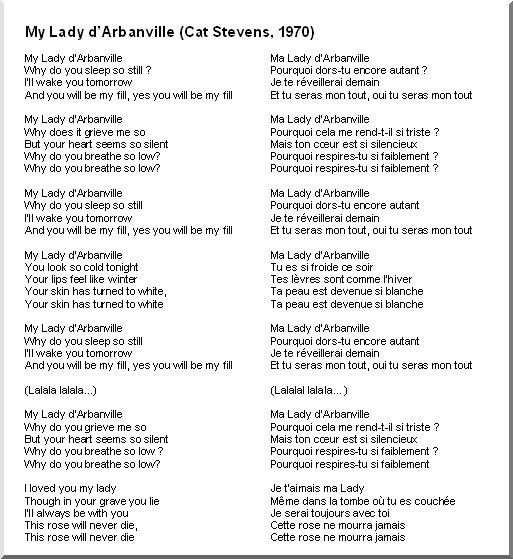 Traduction Paroles Cat Stevens Father And Son