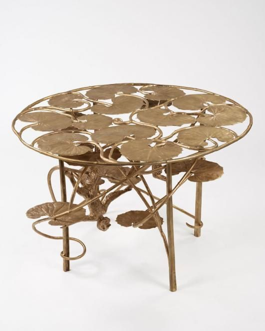Claude-LALANNE-.Table-Lotus-et-Singe-Ronde-en-Bronze--2013.jpg