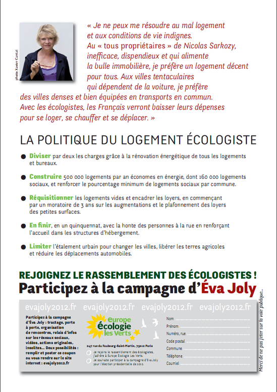 Tract Presidentielle 2012 Logement Version 1 page 2