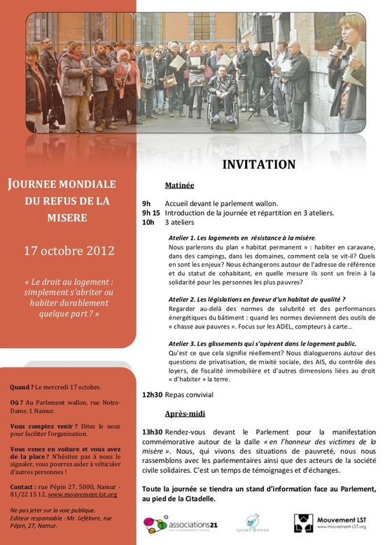 Invitation 17 ocotbre - militants