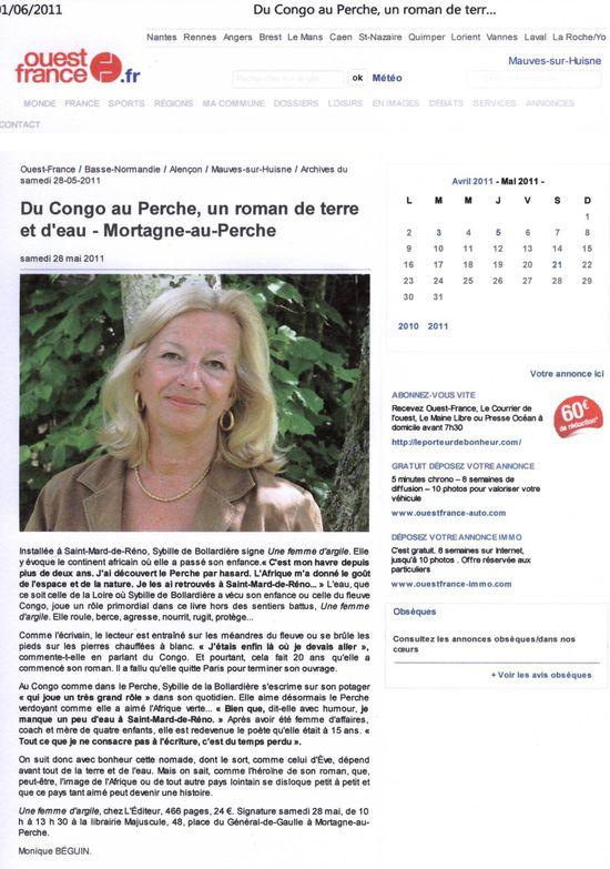 ouest france 1juin 2011
