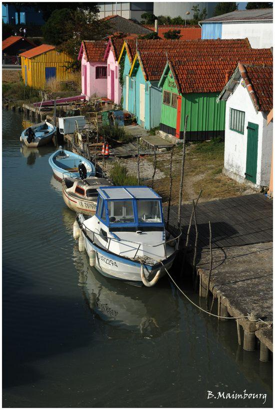 Oleron-Le chateau-cabanes ostreicoles-ostreiculture-bateau-