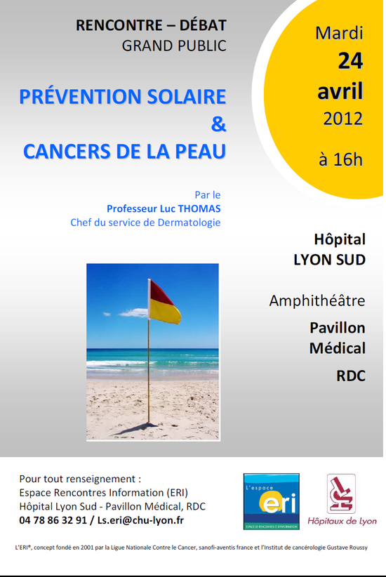 Conférence Prévention solaire et cancer de la Peau