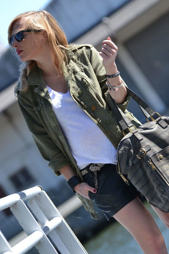 short cuir blog mode