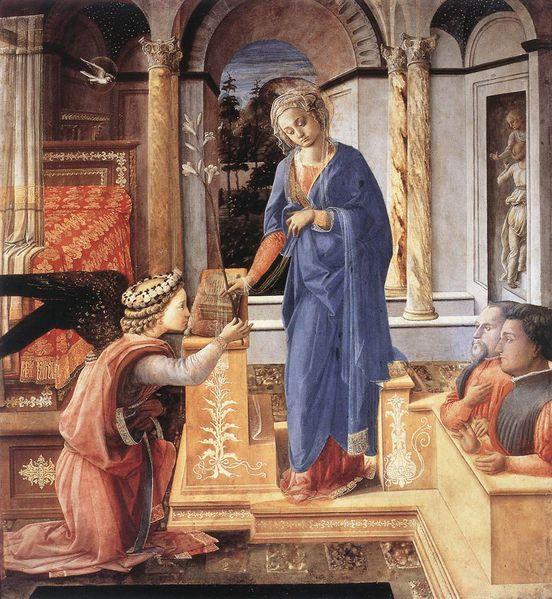 Filippo Lippi, Annunciazione e due donatori - Annunciation