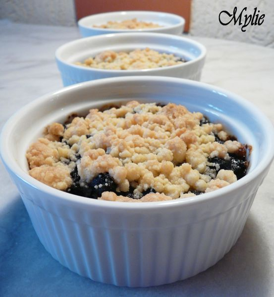crumble boudin, poires, gingembre 2