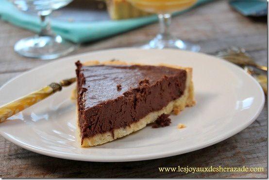 Tarte au chocolat blogs de cuisine - Recette tarte aux chocolat ...