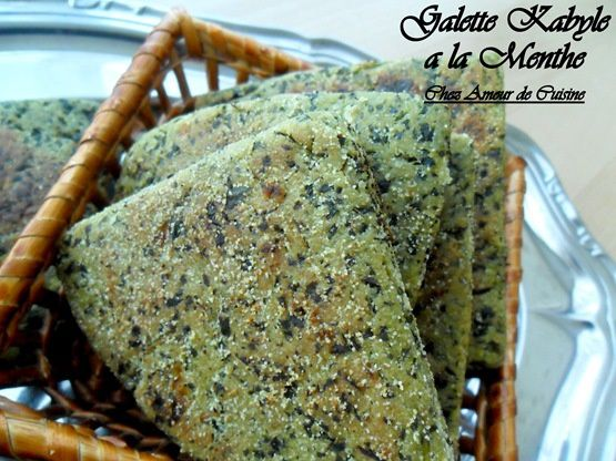 galette kabyle a la menthe