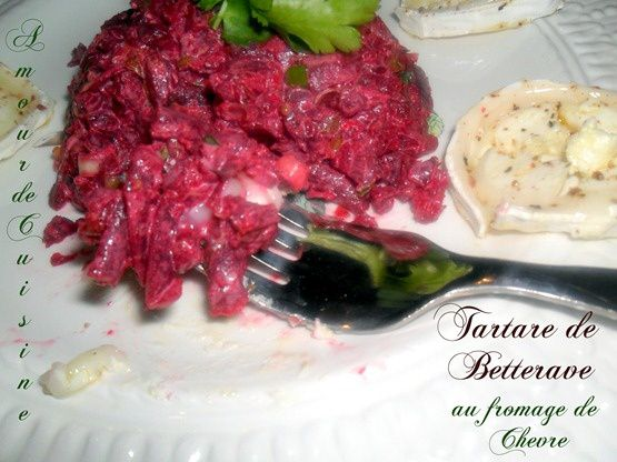 tartare de betterave au chevre