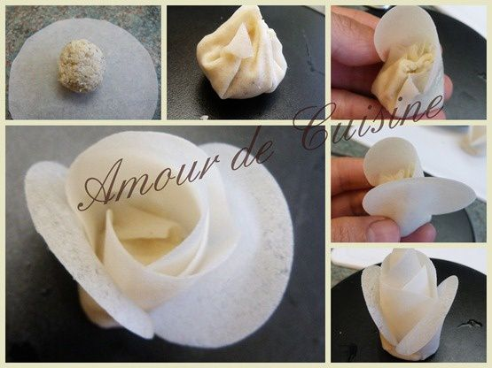 fleurs farcies a la creme d'artichauts