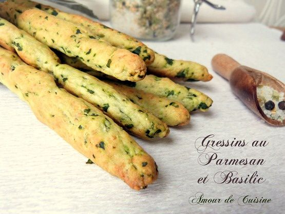 gressins au basilic