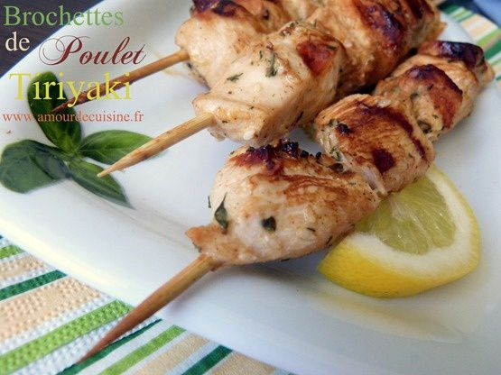 brochettes de poulet teriyaki