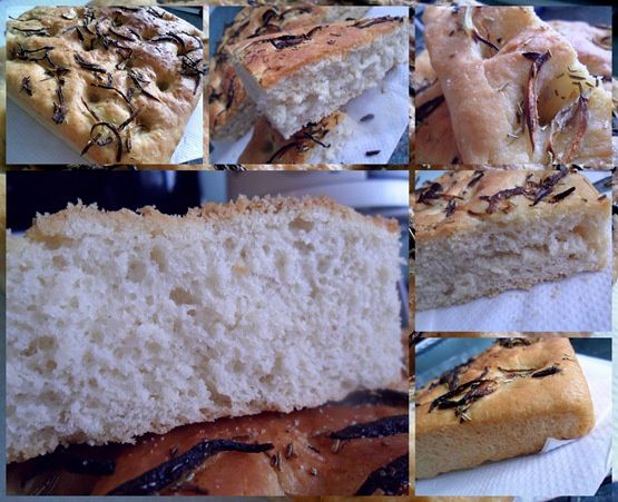 onion and rosemary focaccia - I love to cook