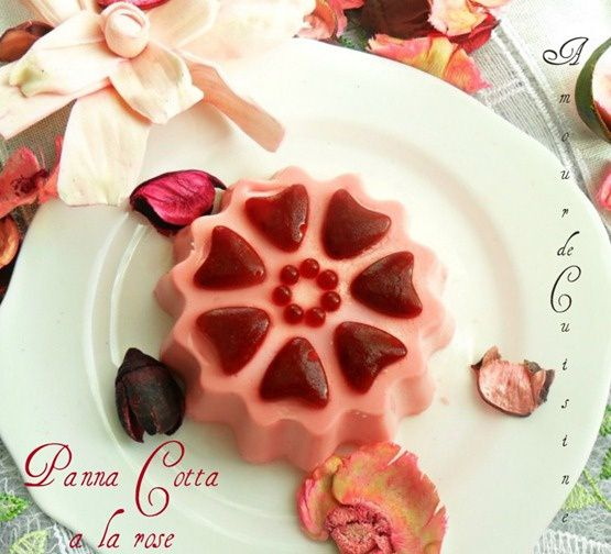 panna cotta a la rose 1