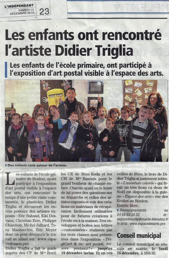 ARTICLE LE BOULOU ART POSTAL 2014 edited