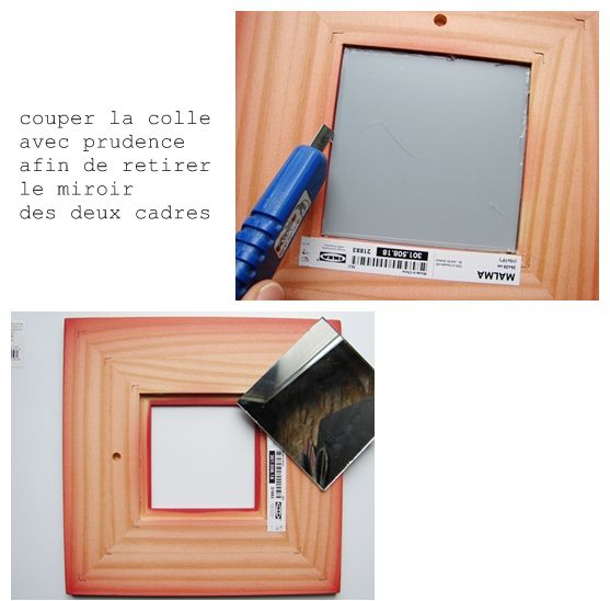 Diy tuto miroir ik a revisit happy diy le blog de g dane for Miroir adhesif ikea