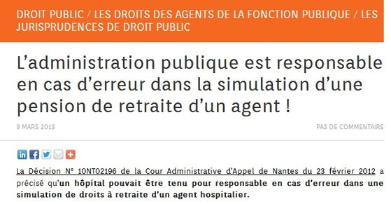 Administration responsable