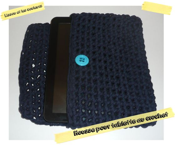 housse crochet tablette