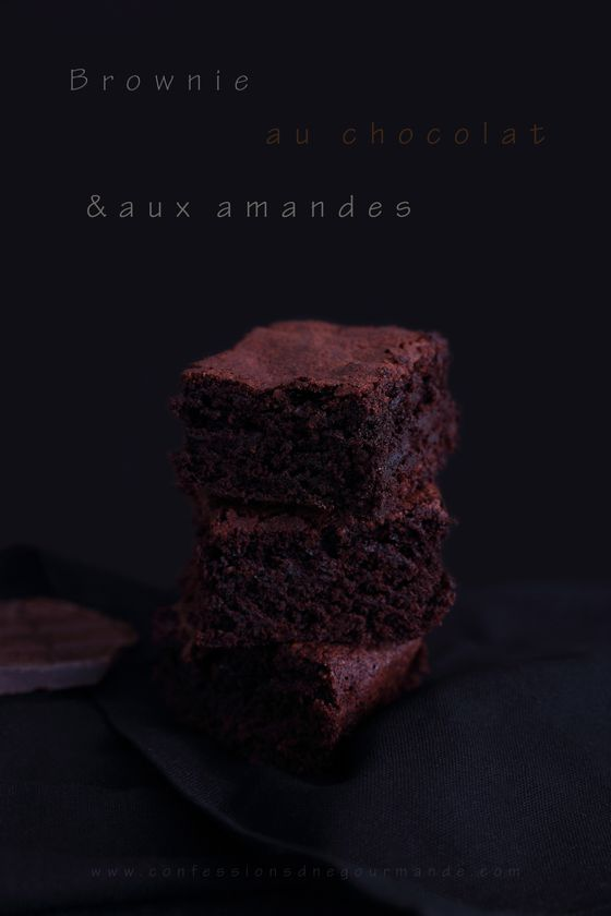 Brownie au chooclat et aux amandes site