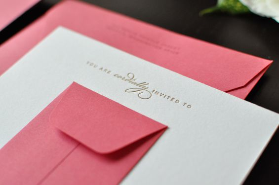 Letterpressed Bridal Shower Invite 2