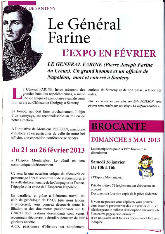 SANTENY, exposition-conférence FARINE---------------