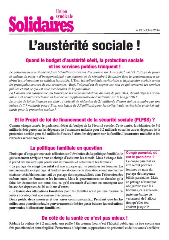 Austérité sociale (1)