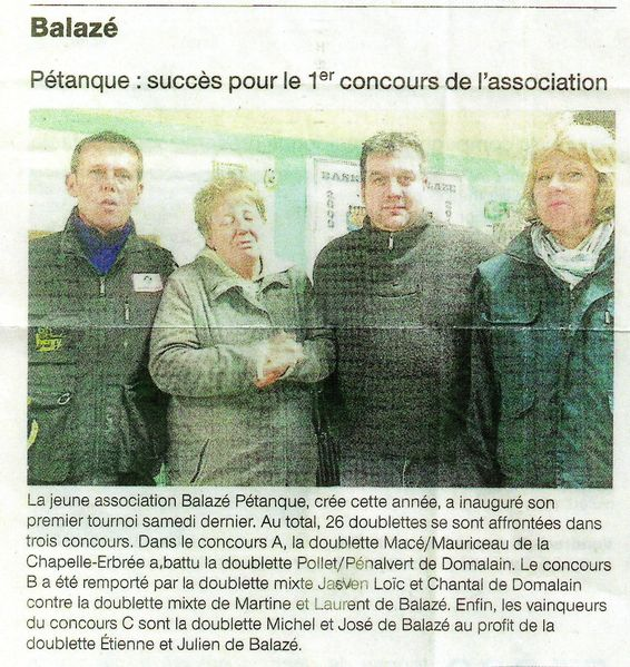 article ouest france 17-11-11