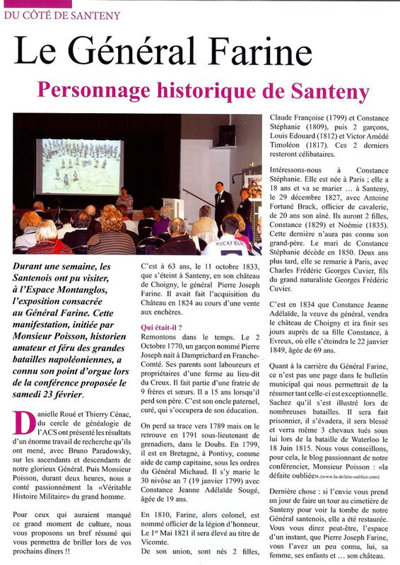 SANTENY, exposition-conférence FARINE-----------------