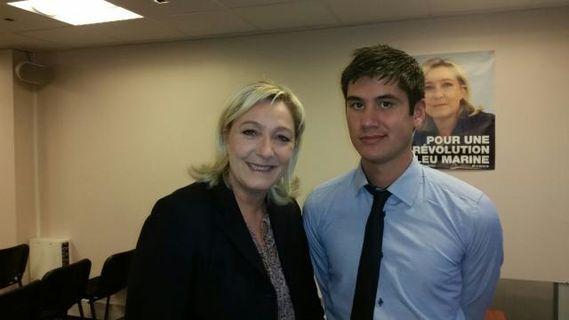 Tommy Anou avec Marine le Pen