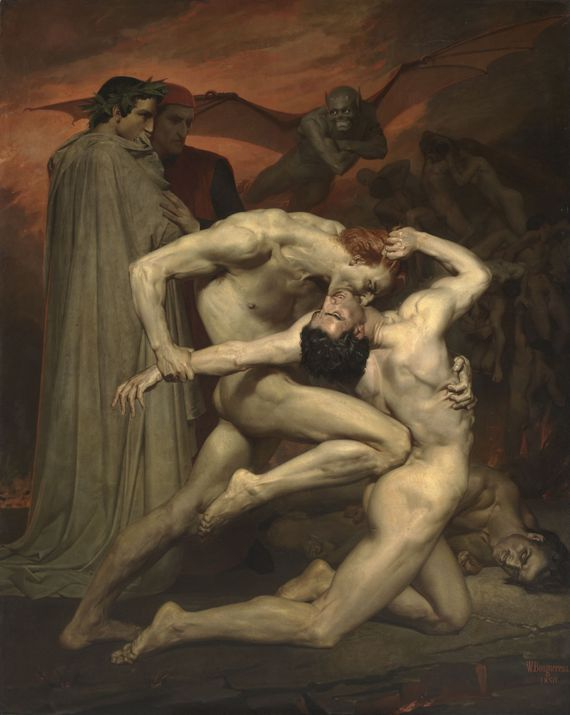William Bouguereau Dante et Virgile aux enfers