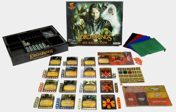 The Lord of the Rings-Dice Building Game-éclaté