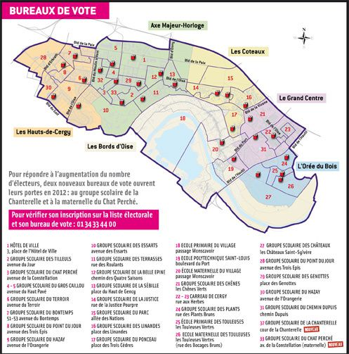 carte des bureaux de vote de cergy le blog des r publicains de cergy. Black Bedroom Furniture Sets. Home Design Ideas