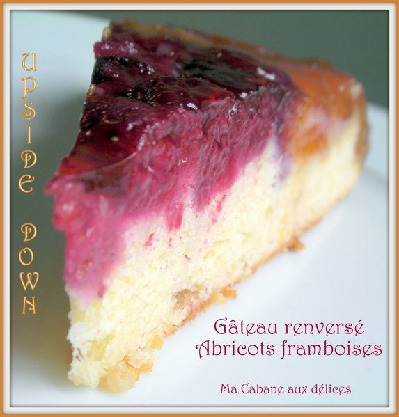 Gateau renverse framboises abricots photo 1