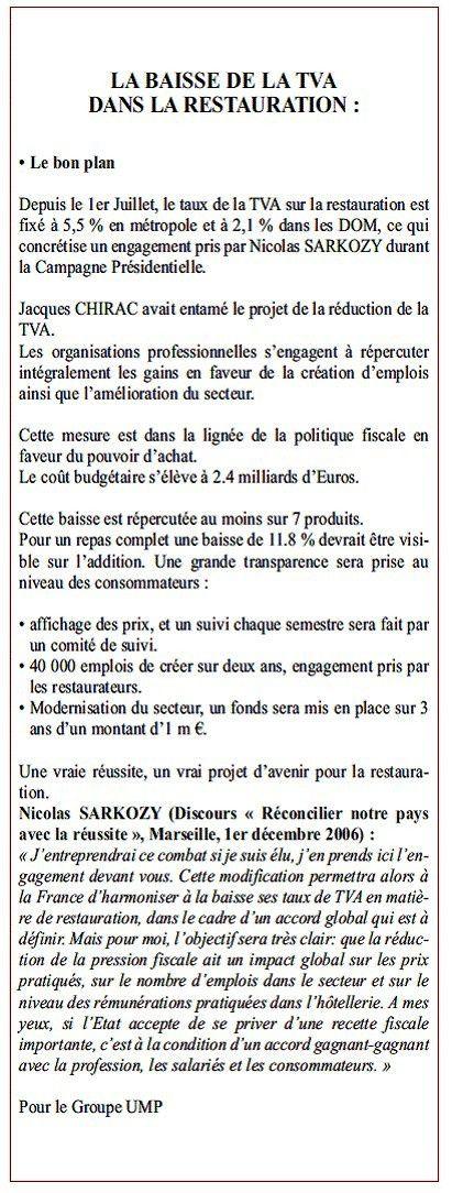 115-Septembre-2009 Baisse TVA