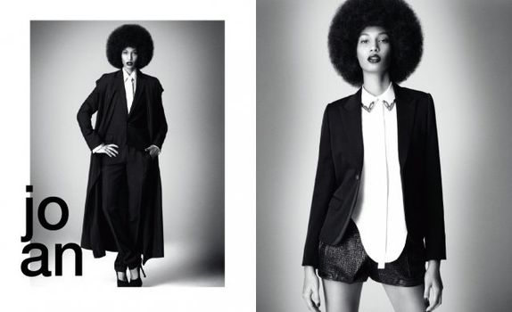 Joan Smalls Afro