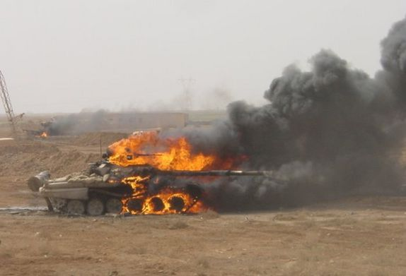burning T-72