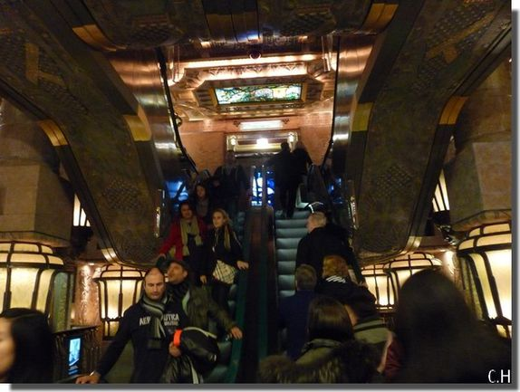 Harrods escalator Egypte
