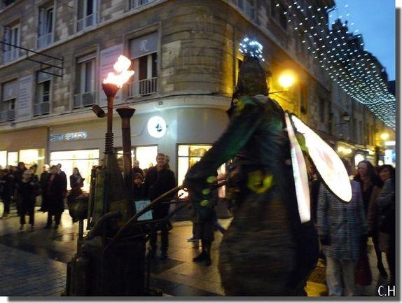Caen les animations du Père Nowel 7-12-2013 rue