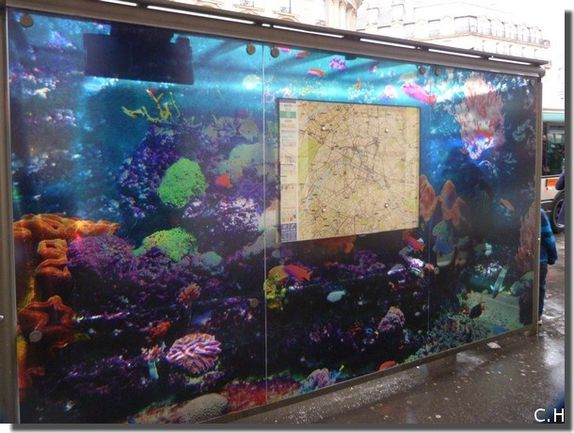 Decaux Aquarium Abri bus