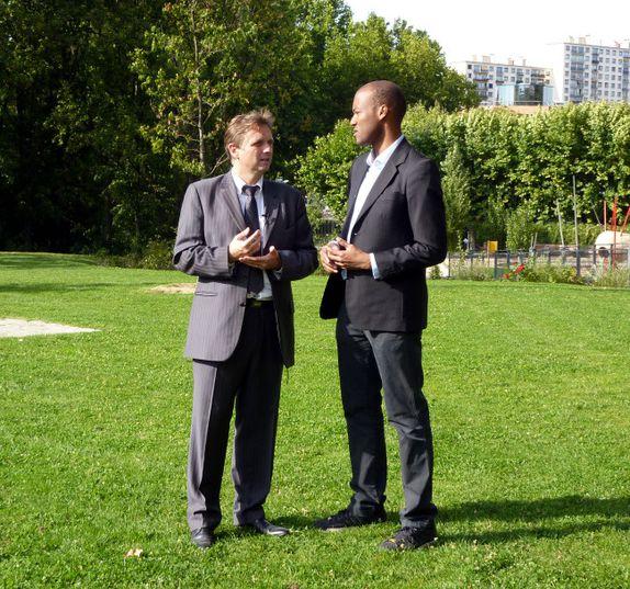 Arcueil Denis Weisser et Benoit Joseph Onambele